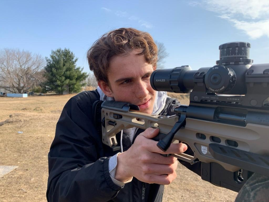 Sam Sharpe training at home with SK ammo 2021